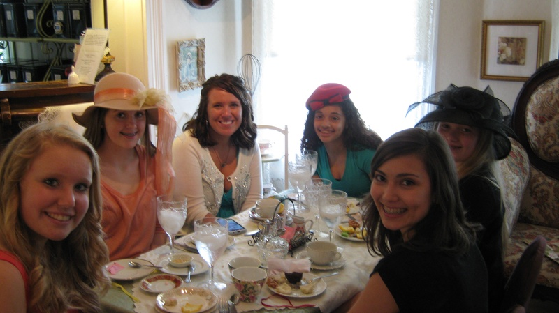 Young Ladies at High Tea